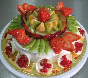 Воздушный десерт - фруктово-ягодный сметанный торт 20